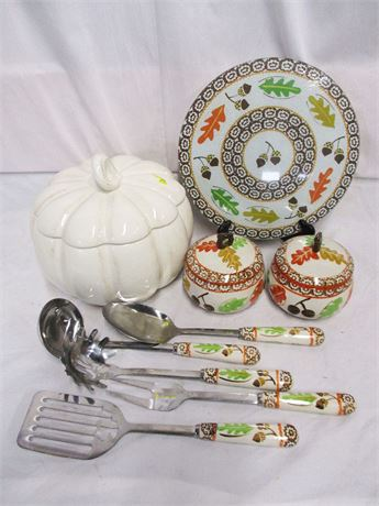 LOT OF FALL SERVEWARE FEATURING SUR LA TABLE AND TEMP-TATIONS