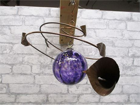 HANGING COPPER/GLASS SCULPTURE