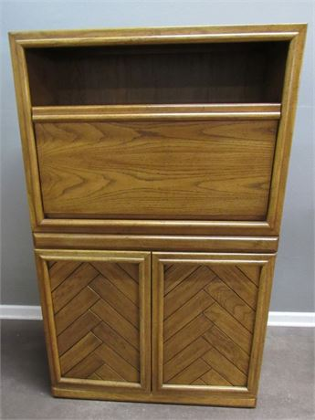 Vintage American of Martinsville Mid Century Cabinet/Hutch with Drop-Front Desk
