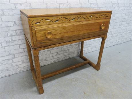 Vintage Buffet Table - British Oak Jamestown Lounge Co.
