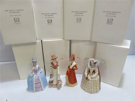 LENOX 8-Piece Figurine Set - The Great Fashions of History