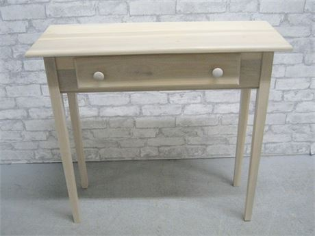 SMALL UNFINISHED CONSOLE/SOFA TABLE