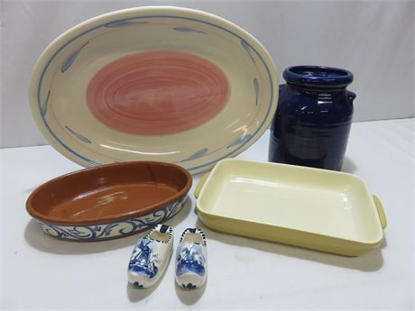 6-Piece Ceramic Pottery Lot