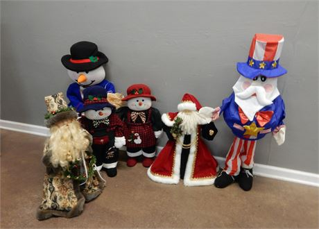 Large Christmas Figures Lot
