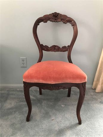 Antique Mahogany Balloon Chair