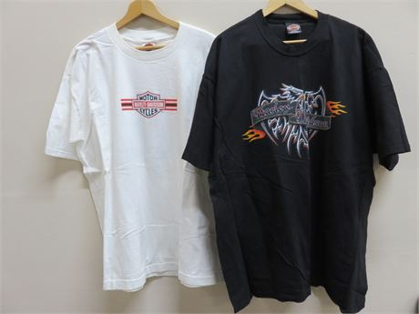 Genuine HARLEY-DAVIDSON Dealership T-Shirts - Size XXL