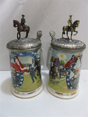 Ulysses S. Grant & Robert E. Lee Presentation Tankards - GERMANY