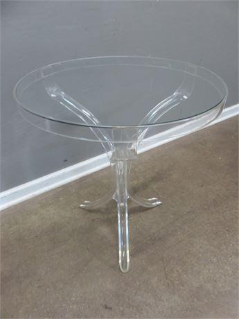 Lucite Glass Top Table