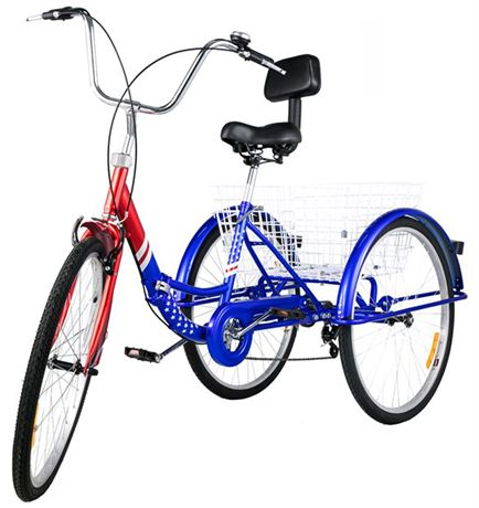VEVOR 7-Speed Adult Tricycle