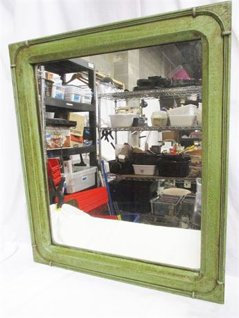 VINTAGE WOOD-FRAMED MIRROR