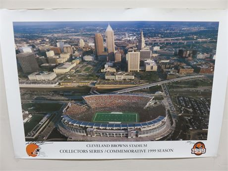 CLEVELAND BROWNS STADIUM Limited Edition Collectors Series Poster (Signed)