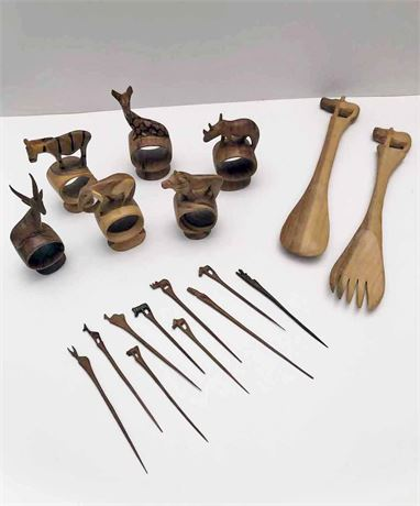 African Hand Carved Utensils