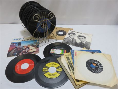 Over 50 Vintage 45 Records