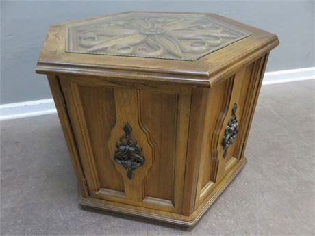 Mediterranean Style Hexagonal End Table