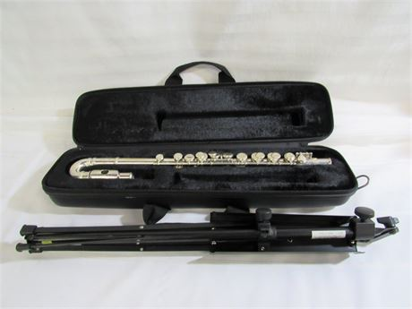 JUPITER CURVED HEAD FLUTE WITH MUSIC STAND