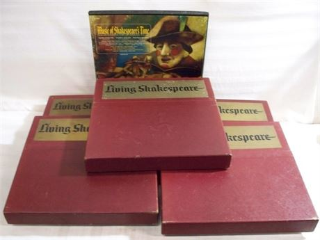 VINTAGE 5 BOX SET - LIVING SHAKESPEARE RECORD SET