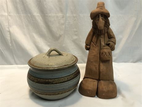 Clay Pot and Figure