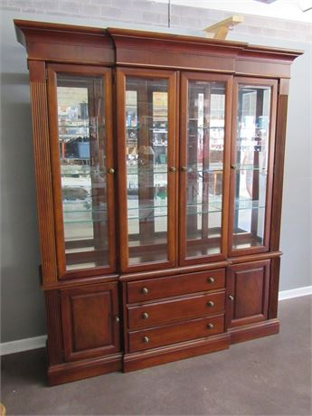 Nice 2 Piece Stanley China Hutch