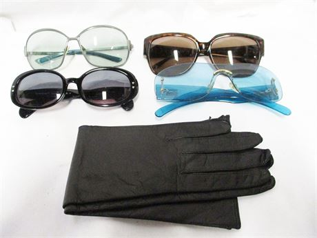 LOT OF DESIGNER SUNGLASSES FEATURING GUCCI AND GIORGIO ARMANI