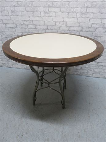 Round Top Metal Base Table