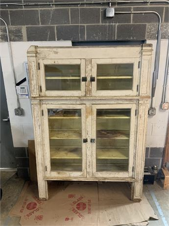 Antique Built-In Wall Hutch