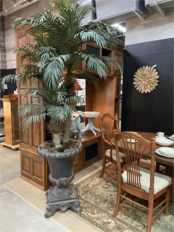 Tall Tree with Grey Urn Pot Large