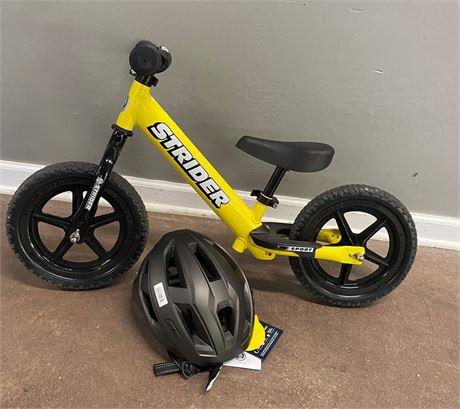 Strider Sport Tike Bike and Lumiere Helmet