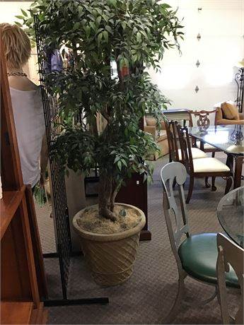 8 Foot Tall Tree with Urn Pot Large