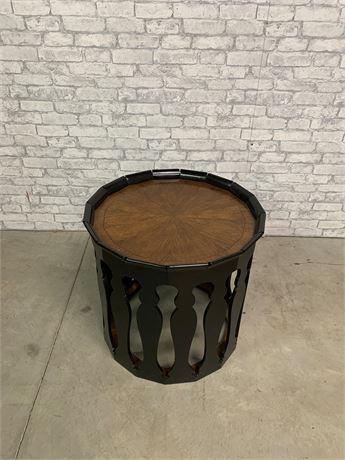 Jonathan Charles Drum Table Black/Natural Wood Combination