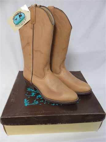 LAKE OF THE WOODS Men's Leather Western Boots - SIZE 10D
