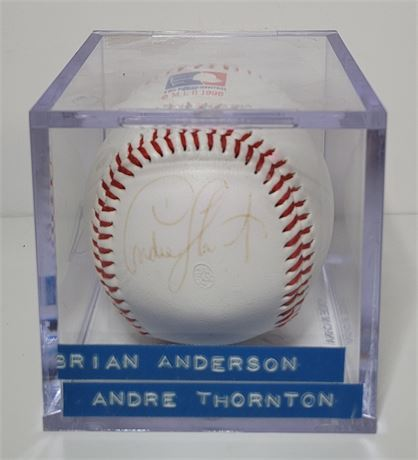 Brian Anderson and Andre Thornton Dual Signed Baseball