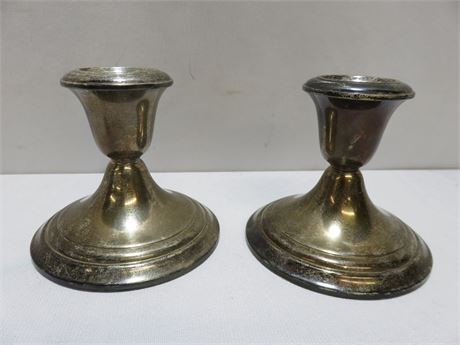 GORHAM Sterling Silver Weighted Candlestick Holders