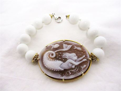 "MICHAEL VALITUTTI MERMAID CAMEO 7"" BRACELET"