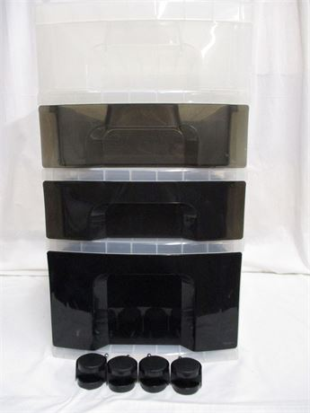 4-DRAWER PLASTIC ORGANIZER WITH CASTERS