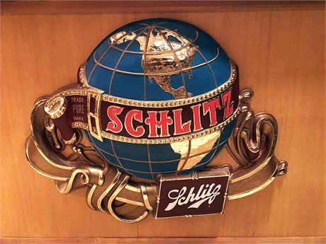 Large Vintage Schlitz Beer Advertisement Sign