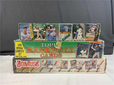 (3) SEALED Baseball Factory Sets