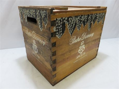 Vintage PEDRO DOMECQ Wooden Wine Crate
