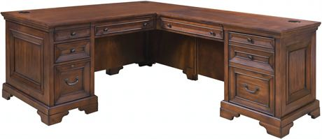 ASPENHOME Executive Desk with Return