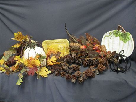 LOT OF FALL DECOR FEATURING POTTERY BARN