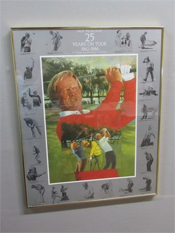 Framed Jack Nicklaus Poster - 25 Years on Tour