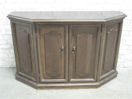 DARK WOOD FINISHED CREDENZA