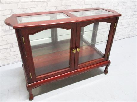 GLASS/CHERRY DISPLAY CABINET