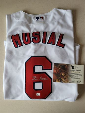 Stan Musial Hand Signed Officially Licensed St Louis Cardinals Jersey