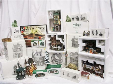 LOT OF CHRISTMAS COLLECTIBLES FEATURING DEPT. 56
