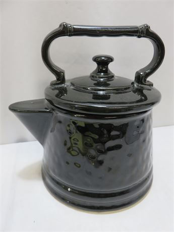 Vintage McCoy Black Teapot Cookie Jar