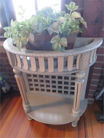 Half Round Plant Stand Accent Table
