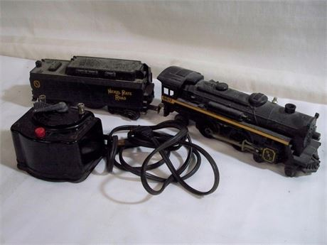 VINTAGE LIONEL O-SCALE STEAM LOCOMOTIVE TENDER - 8617 NICKEL PLATE & TRANSFORMER