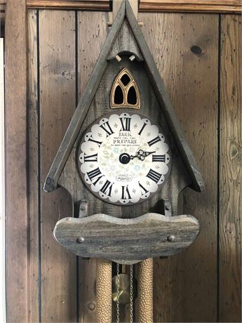 Vintage Cathedral New England Wall Clock
