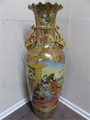Large Asian Floor Vase