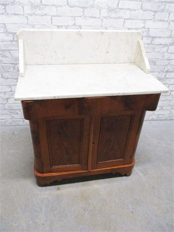 VINTAGE DRY SINK WITH MARBLE TOP